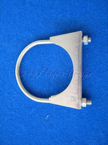 Auspuffschelle Bügelschelle D 83mm 3Zoll Jetex
