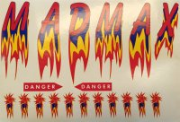Decorbogen Aufkleber  für Mad Max  Robbe