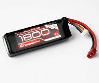 LiPo Akku 1800 mAh 11,1V 3S 25C T-Stecker Robitronic 05261