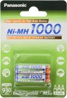 Panasonic AAA-Akku NiMH 1000mAh 1,2 BK-4HGAE/2BE