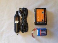 Li-Po-Paket 450 mobil 450mAh Akku 7,4V +Lader+KFZ Kabel