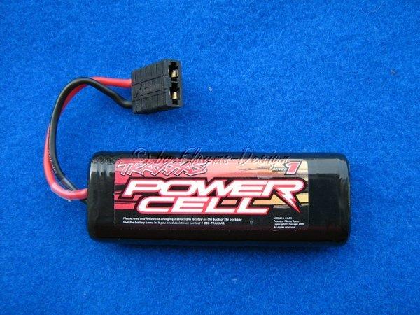 Power Cell Akku Pack 7,2V 1200mAh Ni-Mh 6 Zellen f 1:16 Traxxas 2925 TRX Stecker