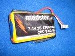 Lithium-Polymer Akku Modster 7,4V 1300mAh 20C 2S1P f...