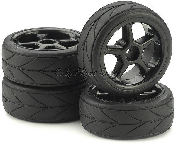 Räder Set 5 Speichen Design m. Profil Reifen schwarz (4)