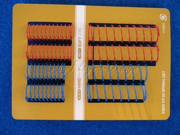 Tuning Federnsatz blau und rot für Tamiya DT-03 und DT-02 Chassis 53832