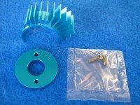 Alu Motorhitzeschild Kühlkörper blau für...
