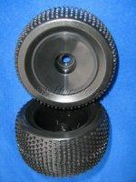 Truggy Räder 1:8 Disc mit Noppen Reifen schwarz 1 Paar