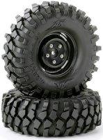 Reifen-Set Crawler 108mm schwarz Stahlfelgen Design (2) 500900562