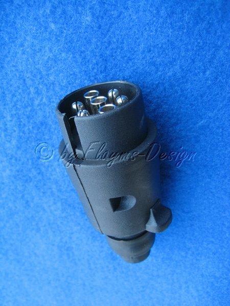 Stecker 7 Polig Kunststoff für Anhänger CARAVAN schraub