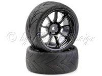 Drift Räder Set 9 Speichen Design mit Profil Reifen...