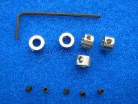 Stellringe (5) für Wellen 4mm mit Innensechskantschrauben Krick 50495