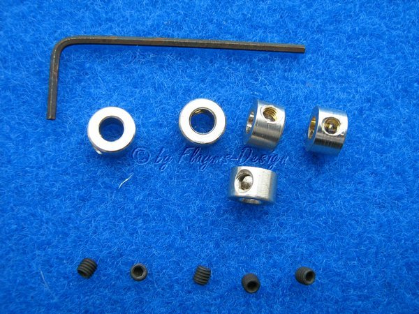 Stellringe (5) für Wellen 5mm mit Innensechskantschrauben Krick 50496