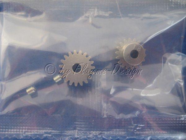 Motorritzel Alu 18Zähne und 19Zähne Modul 0,6 Tamiya 50355