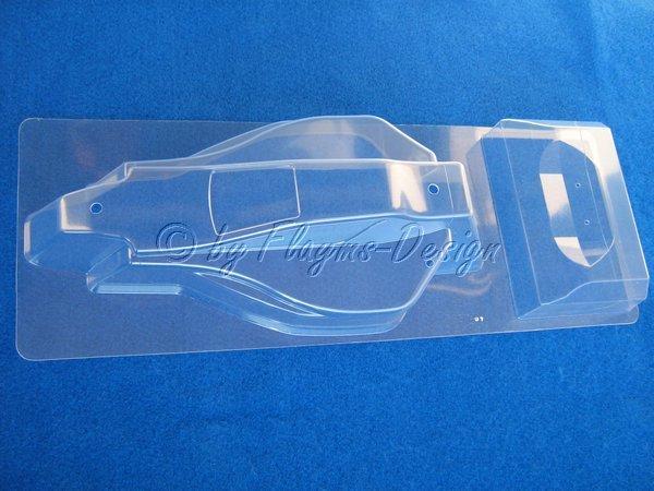 Karosserie + Heckflügel Karosseriesatz zu Tamiya Sand Viper DT02/DN01 TRF201
