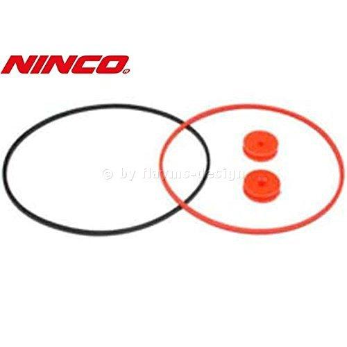 Antriebsriemen 4WD Set. 2x Riemenrad 2x Riemen NINCO 80254