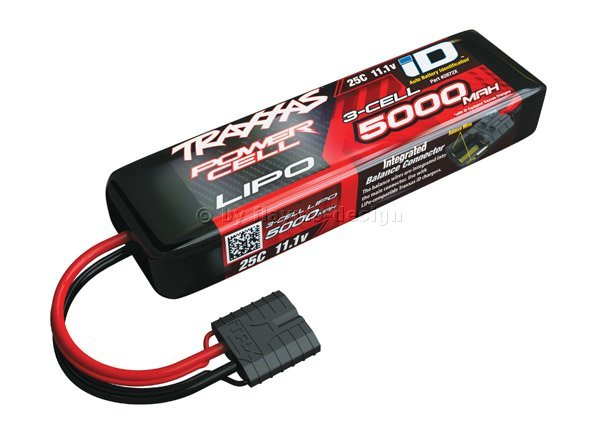 Power Cell LIPO 5000mAh 50C 3S-1P 11,1V Traxxas mit  ID-Stecker