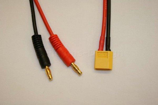 Ladekabel XT60 30cm 14AWG XT60 auf 4mm Bananenstecker 2,5qmm Kabel